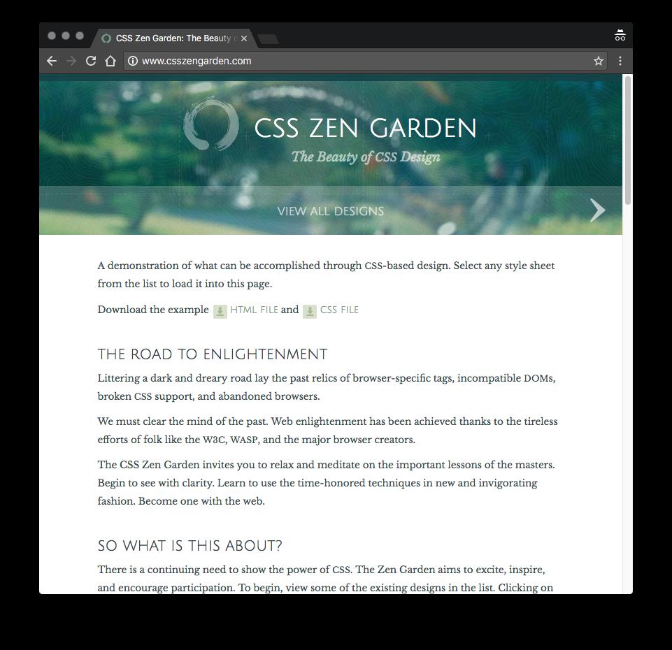 css zen garden with nature theme - Css Zen Garden